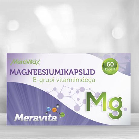 Meravita magneesiumikapslid B vitamiinidega